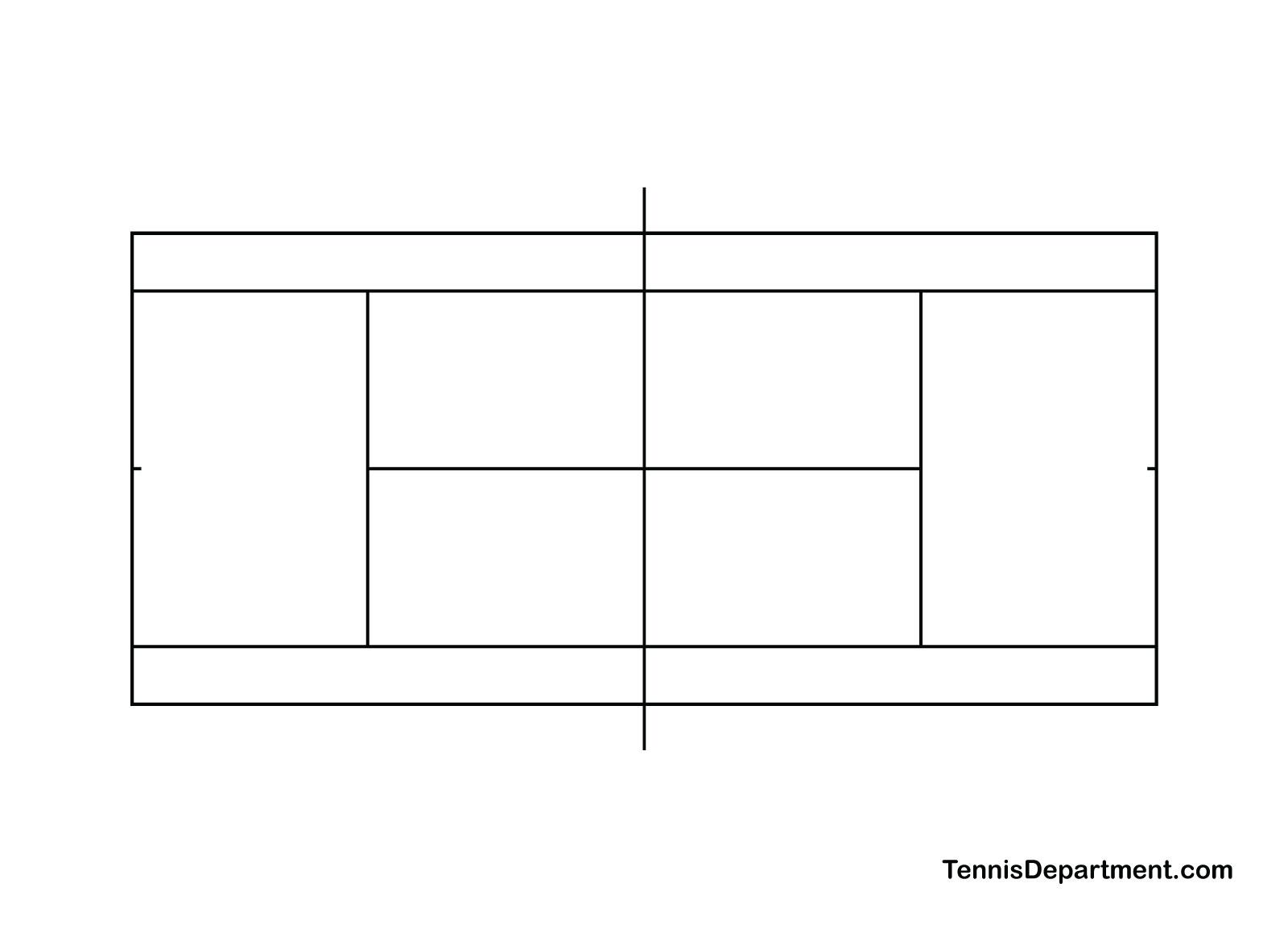 Blank Tennis Court Diagram Download